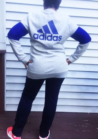 Blue Adidas Athlesiure-back